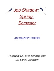 Job Shadow title page