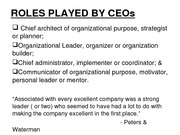 ROLES PLAYED BY CEOs 13.01.11