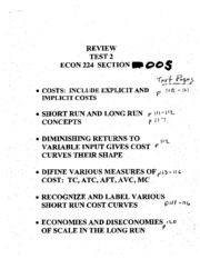 .review test 2 econ 224