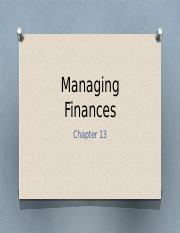 FCS 321 Chapter 13 Managing Finances.pptx