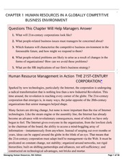 CHAPTER 1-HUMAN RESOURCES IN A GLOBALLY COMPETITIVE-Managing Human Resources, 9th Edition