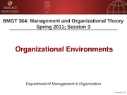 BMGT 364 Session 3 - Organizational Environment - Handouts
