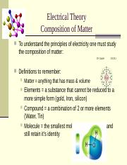 Lect 1-3 Electrical Theory