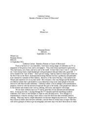 Essay 1 - Narrative Essay