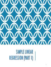 SimpleLinearRegression Part 1