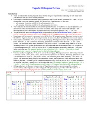 Lecture notes on Taguchi_orthogonal_arrays