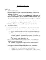 PR 220 EXAM ONE STUDYGUIDE