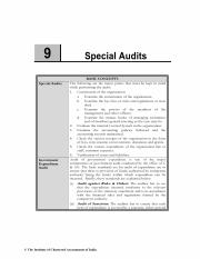 Chapter 9 Special Audits