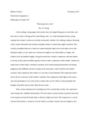 Philosophy of Gender Assignment 2
