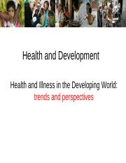 health and development