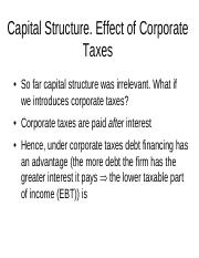 lectures 12-13 cap structure with taxes pdf
