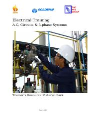E-02-01 A.C. Circuits & 3-phase Systems Trainer's Resource material pack WC_Rev1.doc