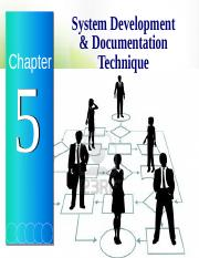 Chapter 5 - System Development  Documentation techniques A152