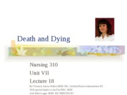 lecture 18- death and dying