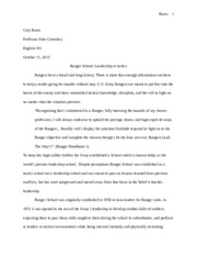 week essay coty burns burns coty burns professor john  4 pages essay 2 fianale draft