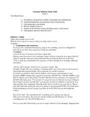 Consumer Behavior Exam 3 Study Guide