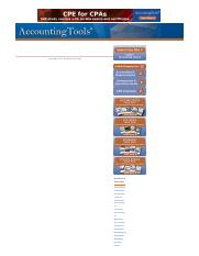 Cash Flows Indirect Method - AccountingTools