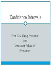 Chapt.8 Confidence Intervals