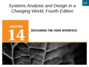 Chapter 14- Designing the User Interface