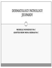 Dermatology pathology Jeopardy SHU (plain backround)