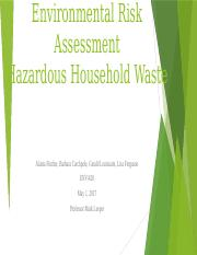 Team A Household Hazardous Waste Final Powerpoint .pptx