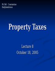 Property taxes.ppt