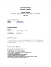 COMM294 Course Outline - Fall 2013  (Burnaby)