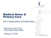 Lec 7_Medical Home and Primary Care
