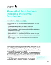 Chapter 6  Theoretical Distributions Including the Normal Distribution