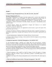 MBA-II-STRATEGIC MANAGEMENT [14MBA25]-SOLUTION.pdf