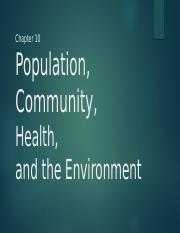 population and community