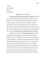 Flannery O'Conner Essay