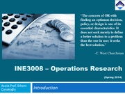 W1 Introduction to Operations Research