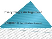 Ch. 1 Everything's An Argument