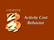 CH03 Activity Cost Behavior