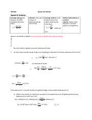 1.2  Speed and velocity wks Solutions.docx