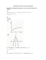 Math 1022 - Test 1 Review Problems - Spring08 Answer Key