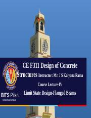 Lecture-IV Limit State Design - Flanged Beams.ppt