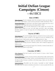 5-Initial Delian League Campaigns (Cimon)