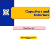 Capacitors & Inductors