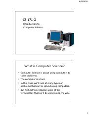 01  Intro to Computer Science