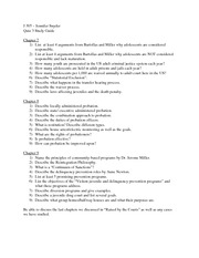 Youth Responsibility Study Guide For Exam