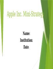 str 581 innovation strategy paper on apple computer company For my final undergraduate business paper, i wrote an analysis of apple as it transforms into a mobile company  a personal computer company (hardware and software .
