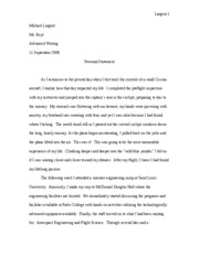 Personal Statement - Rough Draft 2