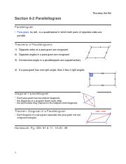 Geometry: CH. 6-2&6-3 copy