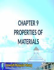 Chapter 9 Properties of Materials.ppt