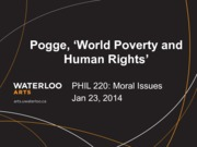 Phil 220 World Poverty and Human Rights