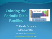 Coloring-the-Periodic-Table-Families