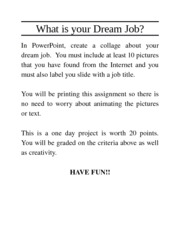 What_is_your_Dream_Job