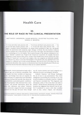 The Role of Race in Clinical Presentation